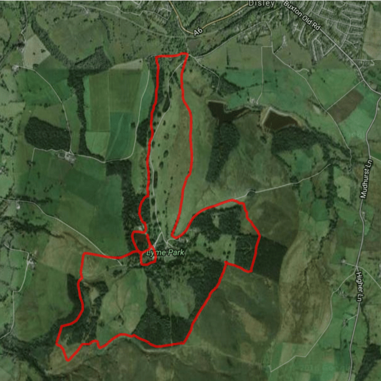Map of Lyme Park Trust 10 route