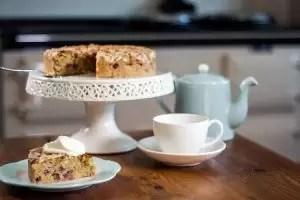 British food fortnight rhubarb cake