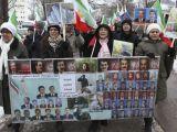 تظاهرات در حمایت از خواست ساکنین لیبرتی در مقابل سفارت آمریکا دراستکهلم