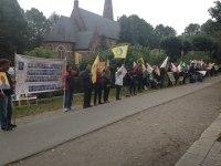 تظاهرات علیه حمله جنایتکارانه مالکی به کمپ اشرف – استکهلم