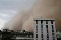 تا رژيم هست،هر روز یک بلاهست، طوفان شدید در مازندران+ویدئو