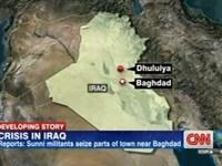 سی.ان.ان: جنگجویان سنی به بغداد نزدیک می شوند