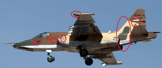 هواپیمای روسی سخوی 25 با پرچم رژیم