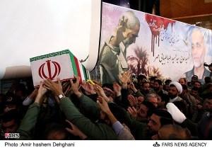 سرتیپ پاسدار احمد طباطبایی مهر  خاک شده در بهشت زهرا در اسفند 1391