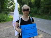 اکسیون حمایتی از اعتراضات معلمین ایران، مقابل سفارت رژیم در استکهلم