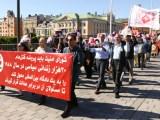 فیلم – تظاهرات بزرگ «نه به اعدام» توسط یاران مقاومت در شهر استکهلم – شنبه 27 آگوست 2016