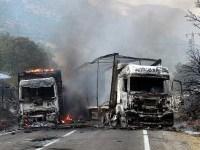کامیونهای حامل کمکهای بشر دوستانه سازمان ملل به حلب (سوریه) بمباران شدند