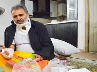 یکی از سرکردگان نیروی سرکوبگر بسیج، بشدت توسط جوانان گوشمالی داده شد