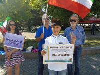 حمایت از قیام مردم ایران در استکهلم و مالمو