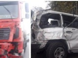 تصادف ماشین وزیر با کامیون
