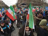 تظاهرات و راهپیمایی ایرانیان در پاریس + عکس و فیلم