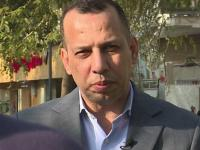 (FILES) This AFPTV screen grab from a video made on February 11, 2019 shows Jihadism expert Iraqi Hisham al-Hashemi speaking during an interview in Baghdad. - Al-Hisham was shot outside his home in Baghdad on July 6, 2020 and died shortly thereafter at a local hospital. He was an authoritative voice on Sunni jihadist factions including the Islamic State group, but was also frequently consulted by media and foreign governments on domestic Iraqi politics and Shiite armed groups. (Photo by - / AFPTV / AFP)