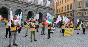 تظاهرات هواداران مقاومت در استکهلم