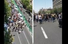 تجمع اعتراضی در تهران  بدلیل قطعی برق