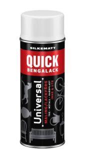 QUICK BENGALACK HVIT SILKEMATT SPRAY 400ML