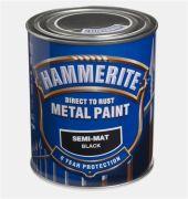 HAMMERITE SEMI-MATT SORT  750ML