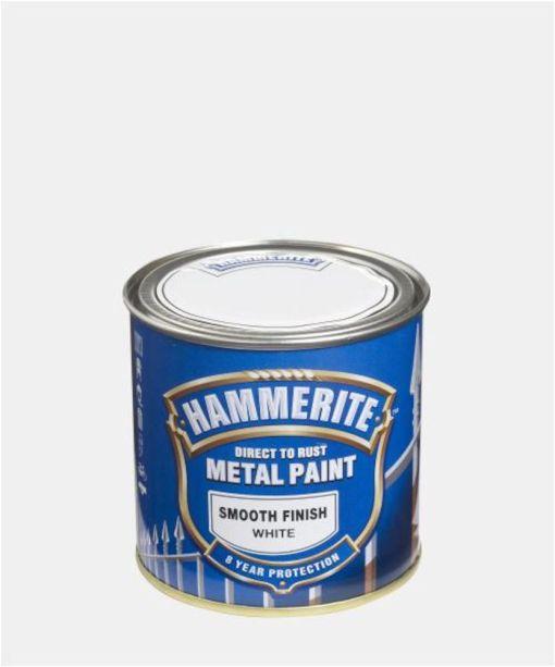 HAMMERITE GLATT FINISH HVIT  250ML