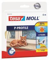 TESA TETNINGSLIST P-PROFIL HVIT 6MX6MMX5,5MM