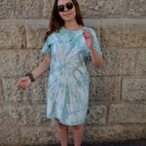 Batik / Tie-Dye Kleid Pool World - Handmade