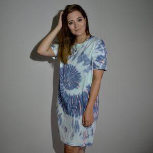 Batik / Tie-Dye Kleid Ibiza Vibes - Handmade, Organic