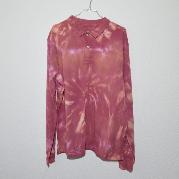 Batik / Tie-Dye Poloshirt Sunrise - Handmade, Organic