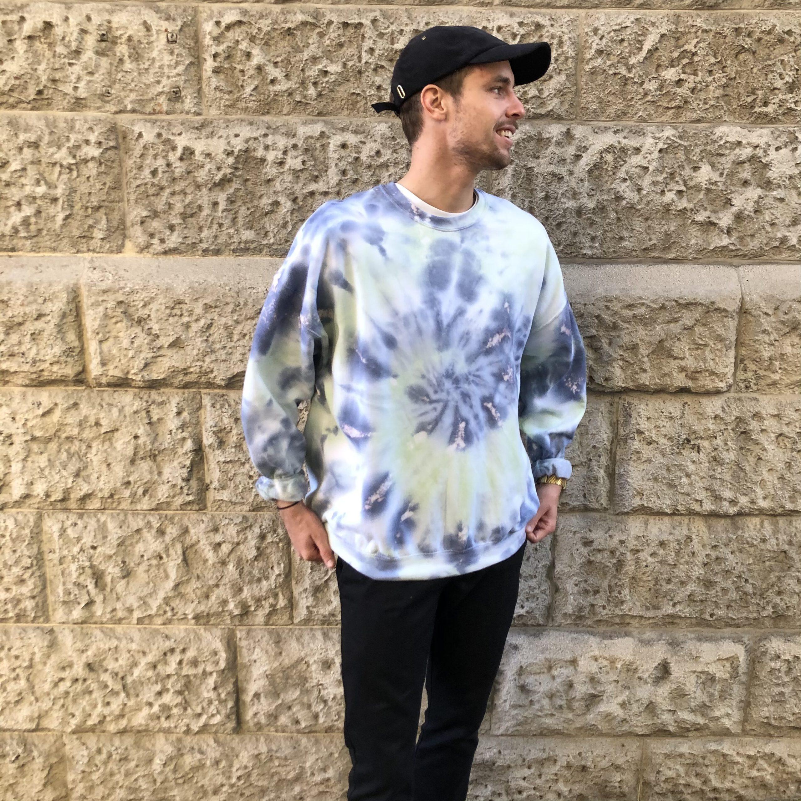 Batik / Tie-Dye Sweater Caribbean – Handmade