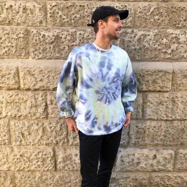 Batik / Tie-Dye Sweater Caribbean - Handmade