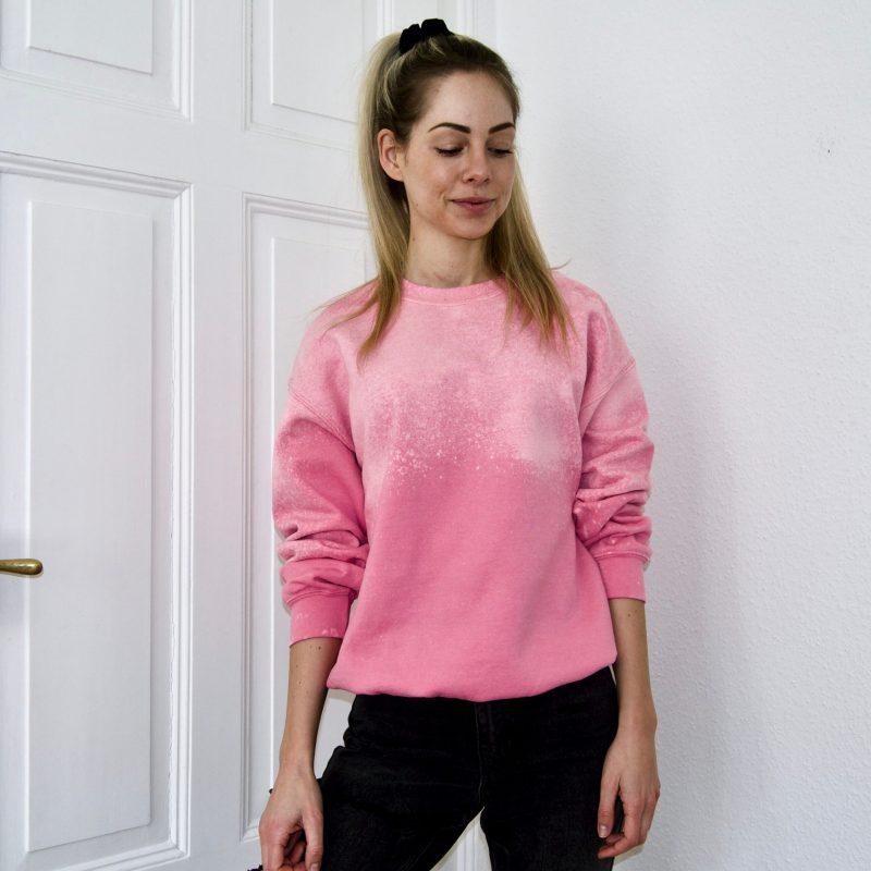 Batik / Tie-Dye Sweater Raspberry Shake- Handmade