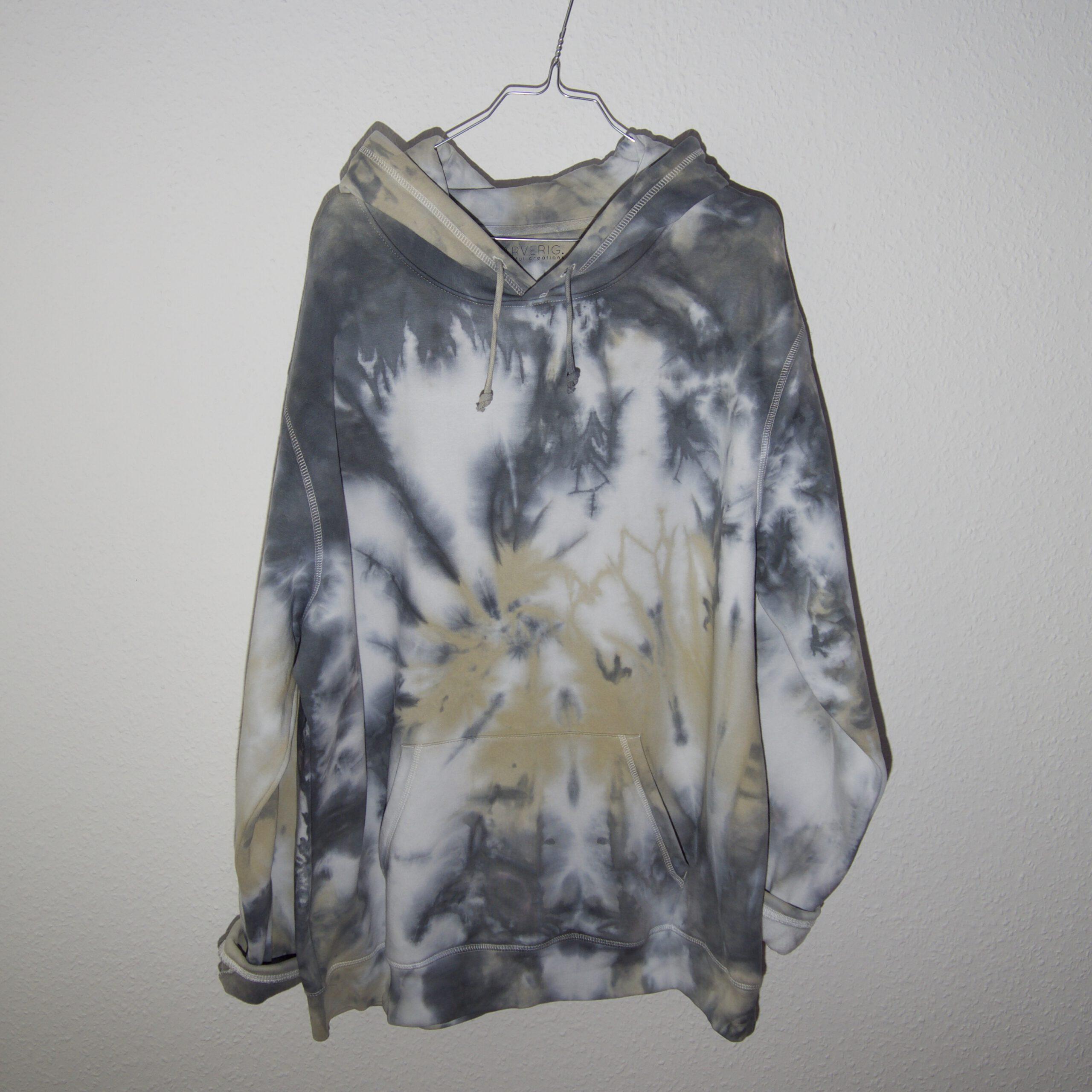 Batik / Tie-Dye Hoodie Thunder – Organic, Handmade