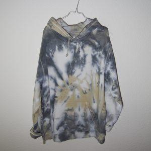 Batik / Tie-Dye Hoodie Thunder - Organic, Handmade