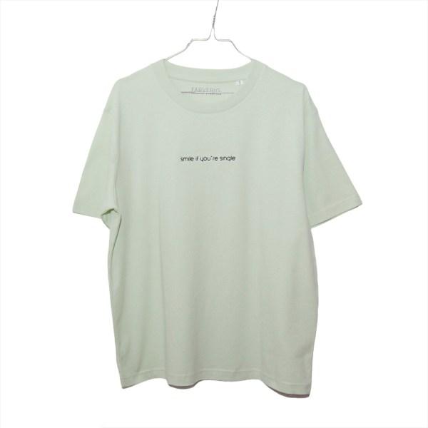 Single Shirt Faded Lime - Organic, Unisex, Oversize