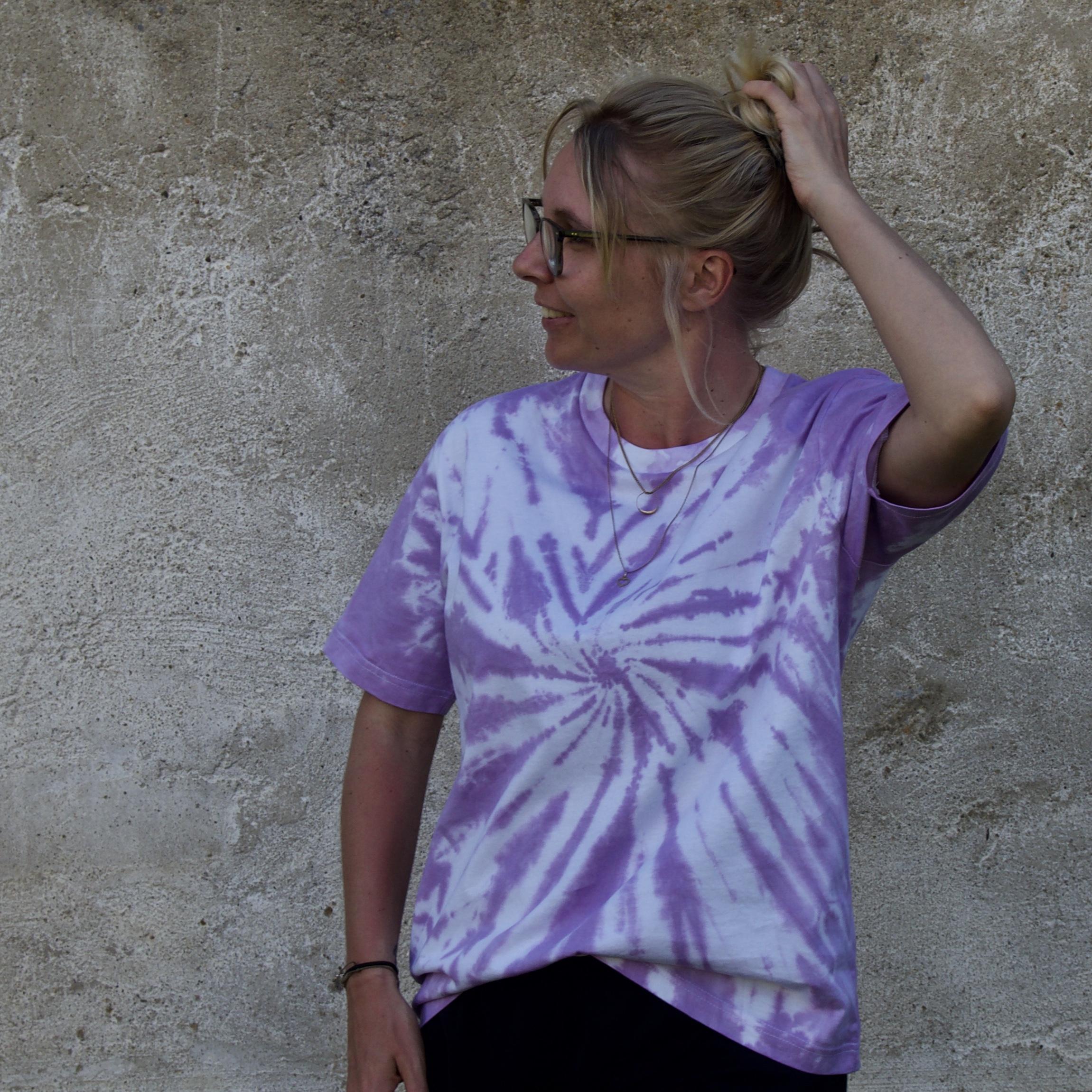 Batik / Tie-Dye Shirt Orchid Glory – Organic, Handmade