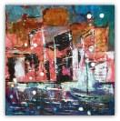 akrylmaling abstrakt figurativt 30 - 30