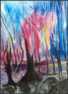røde træer