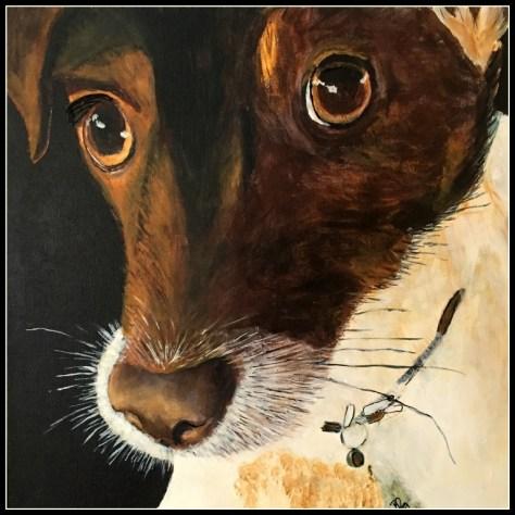 Mit yndlingsdyr, Millemusen akrylmaleri.