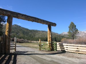 Tahoe ranch entrance too property in Markleeville, CA.