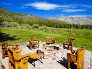 Outdoor Living is wonderful on Tahoe ranch property.