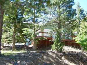Twin Lakes Get-Away unique offering includes two lots, one with an exceptional alpine cabin and the other is a contiguous lot.