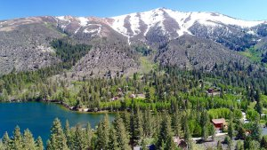 Twin Lakes consists of two large alpine lakes at an elevation of 8,563 feet.