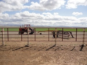 Woodward Ranch has a pipeline from water righted spring runs to house.