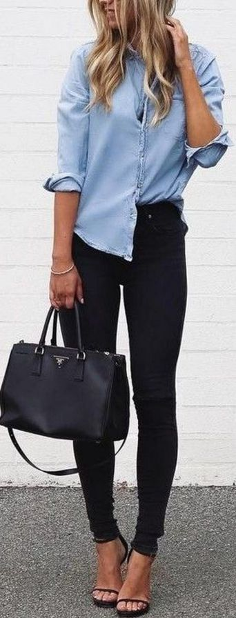 Coolest women denim trends idea (20)