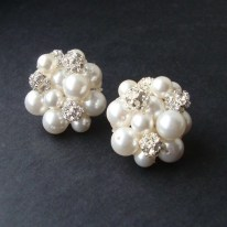 Earrings diamond wedding brides (101)