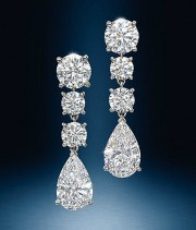 Earrings diamond wedding brides (103)
