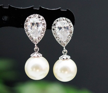 Earrings diamond wedding brides (11)