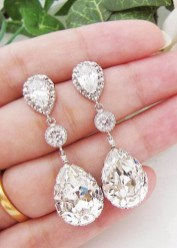 Earrings diamond wedding brides (119)