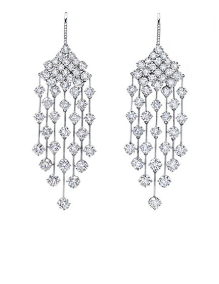 Earrings diamond wedding brides (120)