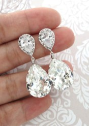 Earrings diamond wedding brides (122)