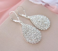 Earrings diamond wedding brides (123)