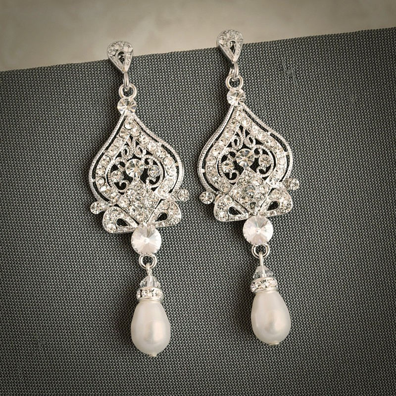 Earrings diamond wedding brides (13)