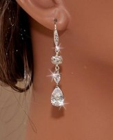 Earrings diamond wedding brides (131)
